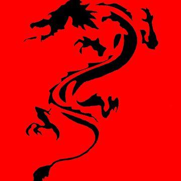 Black Dragon Silhouette by Presumably