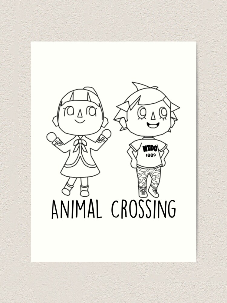 Animal Crossing Villagers Outline Art Print By Brokensixteen