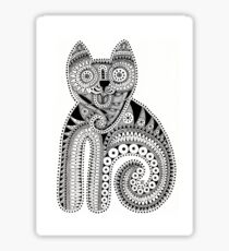 Black and white cat Sticker
