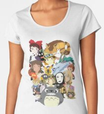 Studio Ghibli Collage Women's Premium T-Shirt