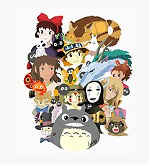 Studio Ghibli Collage Photographic Print