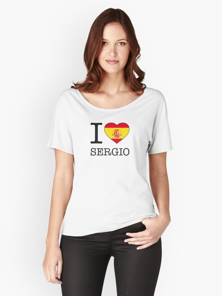I ♥ SERGIO Women's Relaxed Fit T-Shirt Front