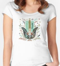 Hamsa Hand – Earth Palette Women's Fitted Scoop T-Shirt