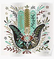Hamsa Hand – Earth Palette Poster