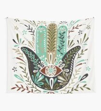 Hamsa Hand – Earth Palette Wall Tapestry