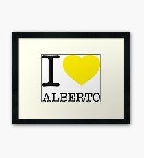 I ♥ ALBERTO Framed Print