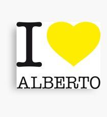 I ♥ ALBERTO Canvas Print