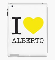 I ♥ ALBERTO iPad Case/Skin