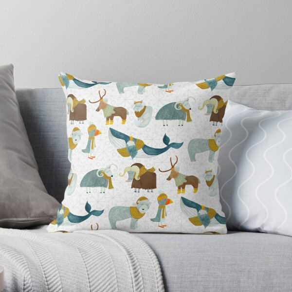 Pattern 72 - Arctic animals  Throw Pillow