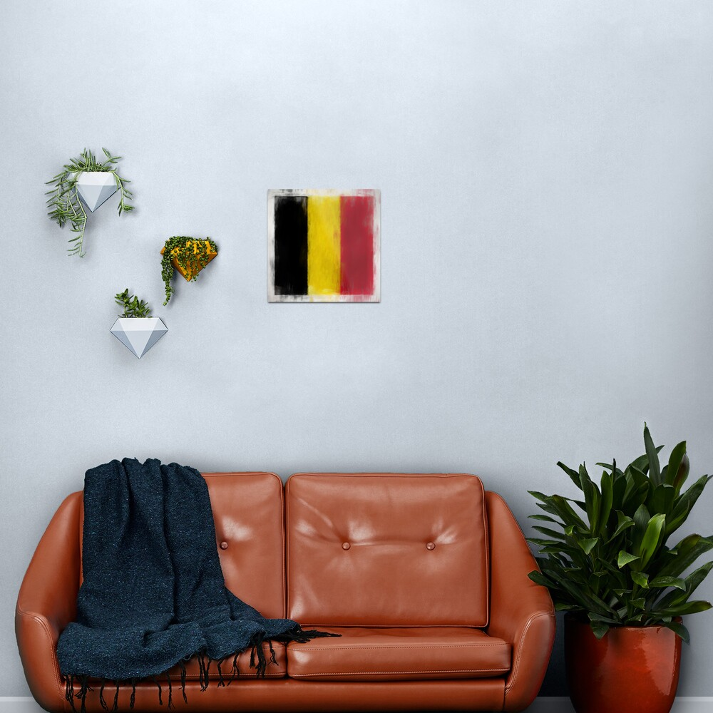 Belgium Flag Reworked No. 2, Series 2 Metal Print