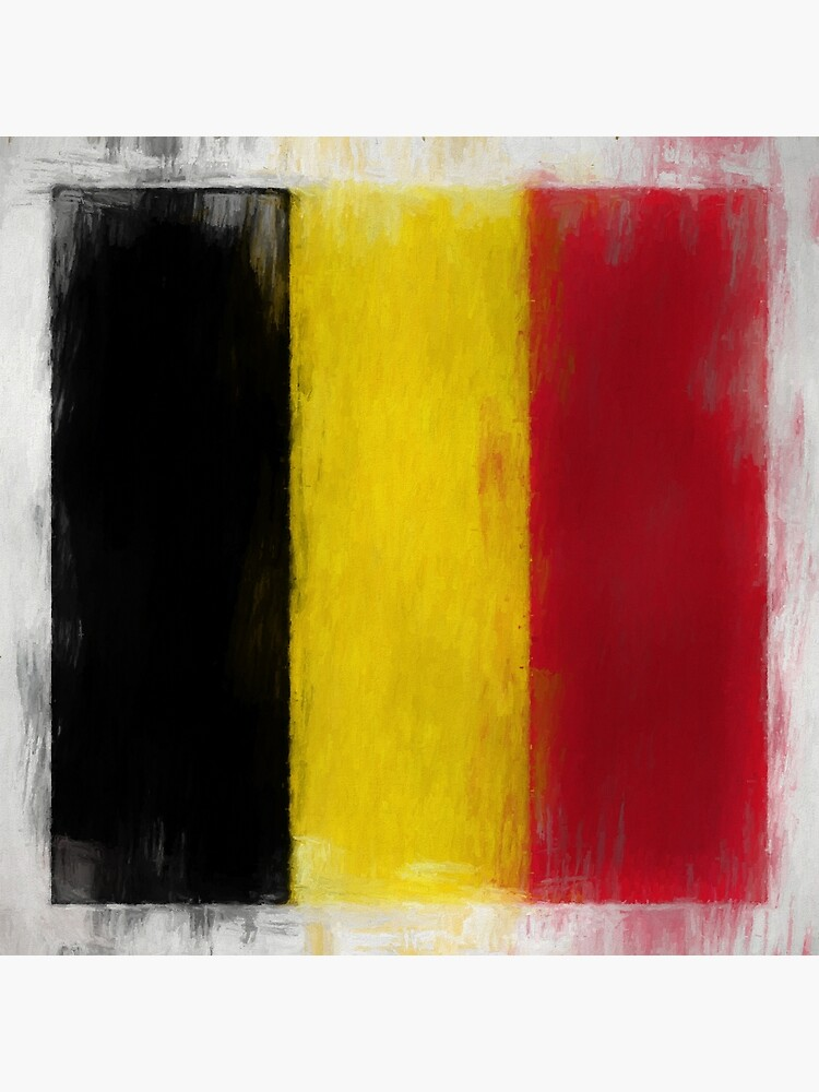Belgium Flag Reworked No. 2, Series 2 by 8th-and-f
