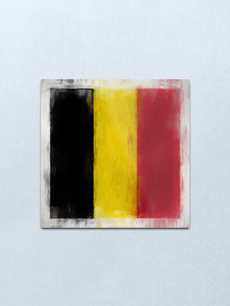 Alternate view of Belgium Flag Reworked No. 2, Series 2 Metal Print