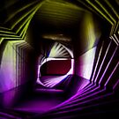 Purple and Yellow Abstract Light Painting by Pixie Copley LRPS