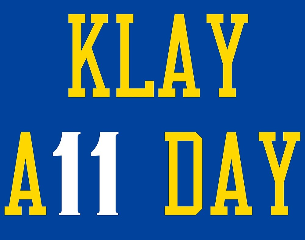 Klay all day score by ballersnba