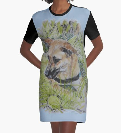 Dog ~ Hond Graphic T-Shirt Dress
