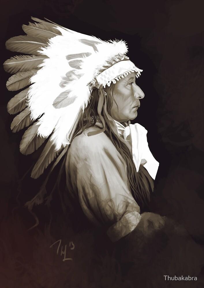 Native Amerivan chief digital painting by Thubakabra
