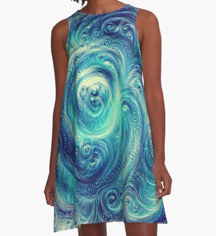 Cyclone #DeepDream A-Line Dress