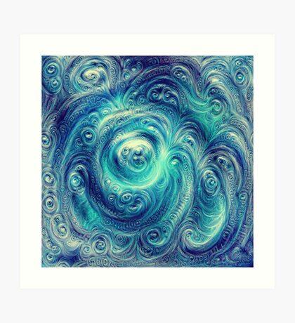 Cyclone #DeepDream Art Print