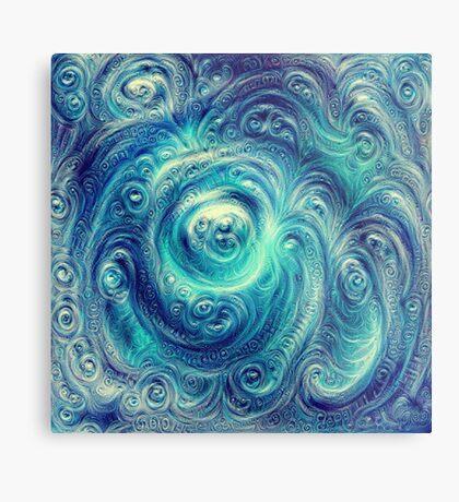 Cyclone #DeepDream Metal Print
