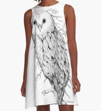 Leaf Barn Owl A-Line Dress