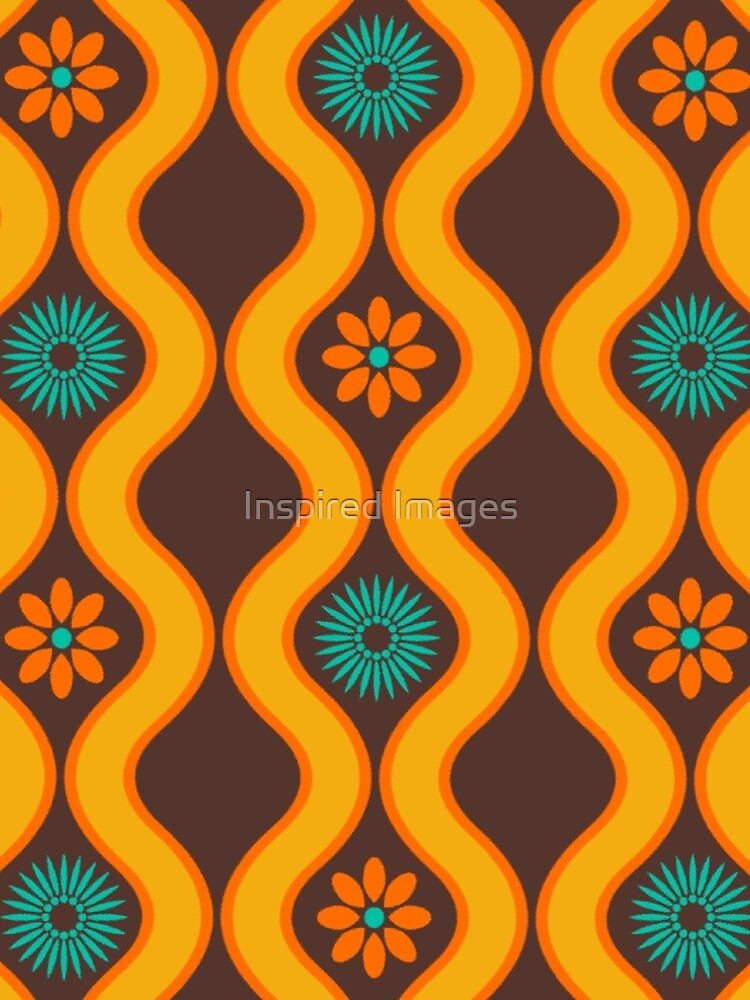 1970's Retro Vintage Seventies Floral Flowers Pattern  by ImageMonkey