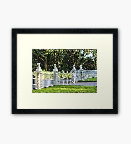 Gates at Tregwainton Framed Print