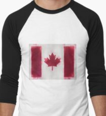 Canada Flag Reworked No. 66, Series 1 Men's Baseball ¾ T-Shirt