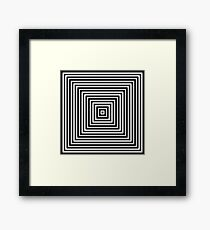 Hypnotic Fascinating Abstract Design Framed Print