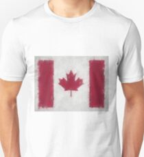 Canada Flag Reworked No. 66, Series 4 Unisex T-Shirt