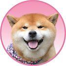 Doggo Stickers: Happy Shiba by Elisecv