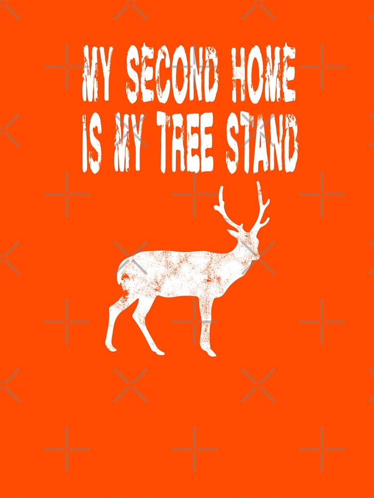 Mein zweites Zuhause ist mein Baum-Stand - lustiges Rotwild-Jagd-T-Shirt von greatshirts
