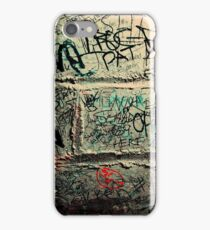 Words on the wall  iPhone Case/Skin
