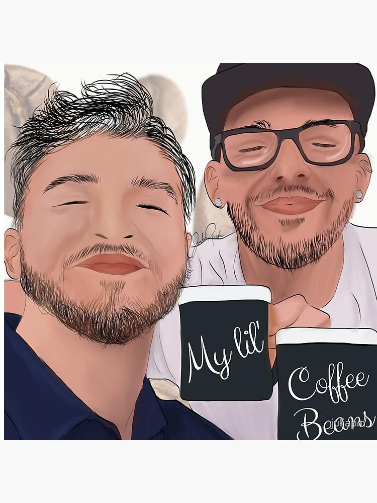 """My lil' Coffee Beans | Heath & Zane"" Throw Pillow by ..."