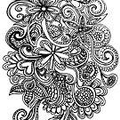 flower swirl art by teegs