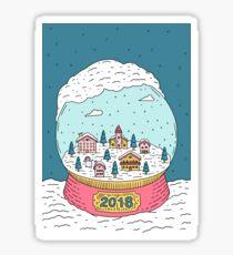 Snow globe Sticker