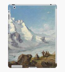 Vintage Leopold Munsch - Group of Mountain Climbers beside Mountain 1888 Fine Art iPad Case/Skin
