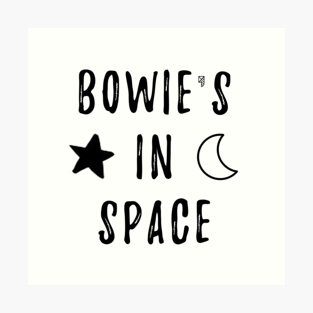 Bowie & # 39; s en el espacio Lámina artística