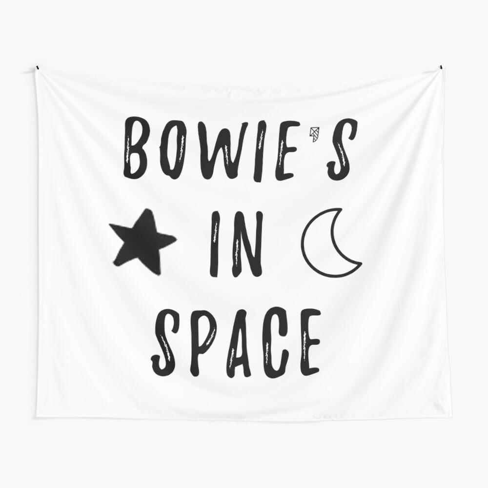 Bowie & # 39; s en el espacio Tela decorativa