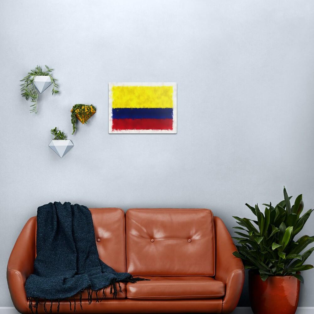 Colombia Flag Reworked No. 66, Series 5 Metal Print