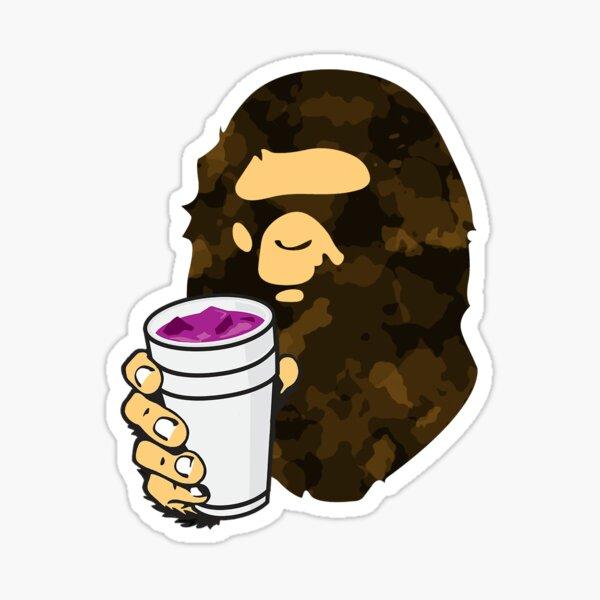 Brown Camo Lean Bape Ape Sticker