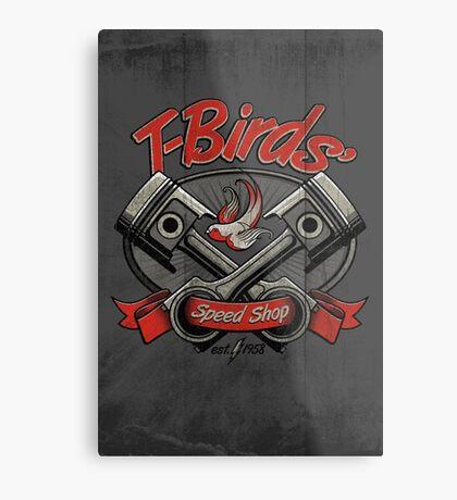 T-Birds' Speed Shop Metal Print