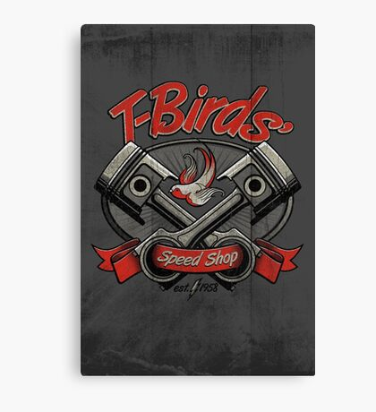 T-Birds' Speed Shop Canvas Print