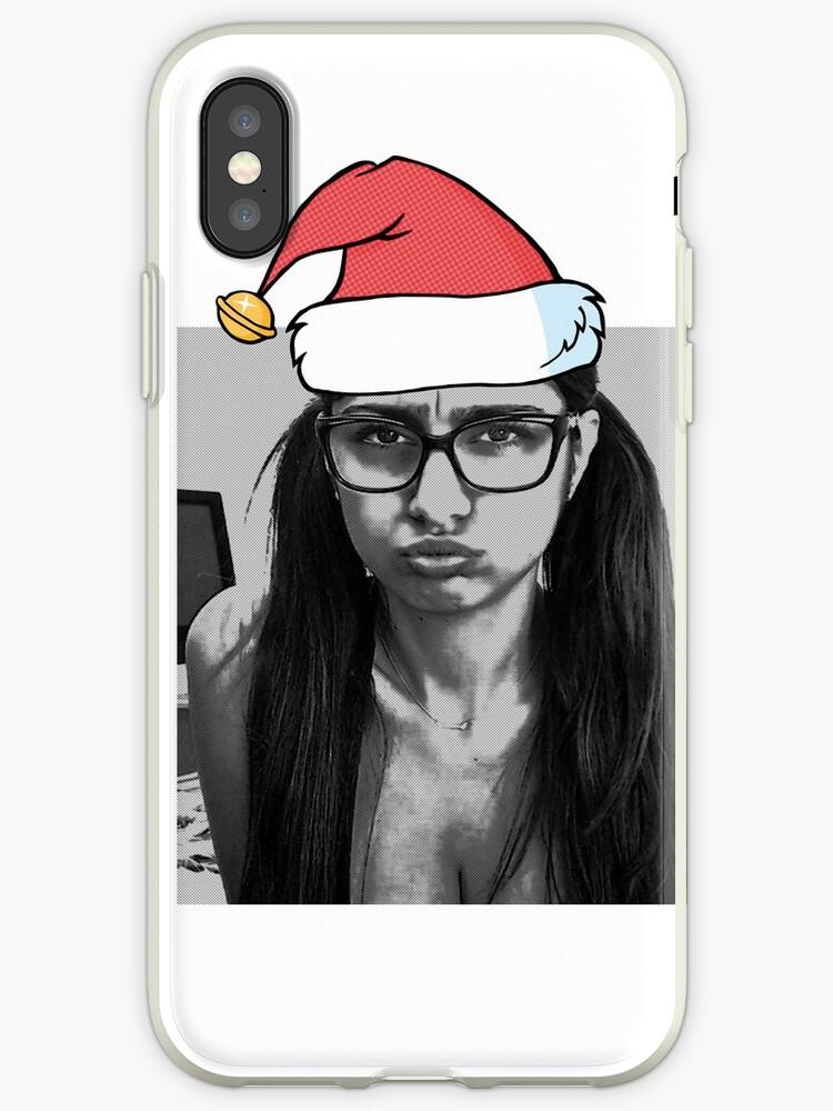 reputable site de4cc 6dc4a 'Mia Khalifa Is The New Santa' iPhone Case by MildredBPoll