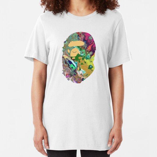 Trippy Bape Ape Slim Fit T-Shirt