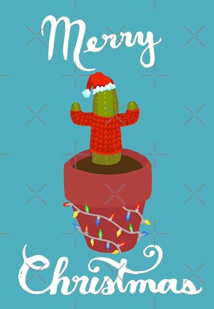 Weihnachtskaktus von krisdrawsthings