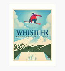 """""""Snowboard Booter"""" Whistler, BC-Reise-Plakat Kunstdruck"""