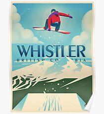 """""""Snowboard Booter"""" Whistler, BC-Reise-Plakat Poster"""