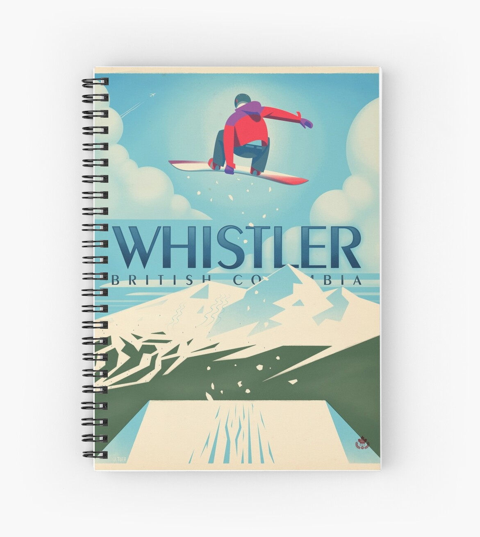 """""""Snowboard Booter"""" Whistler, BC-Reise-Plakat von James Tuer"""