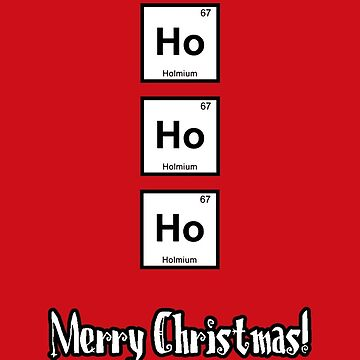 HoHoHo for chemists, RED by garigots