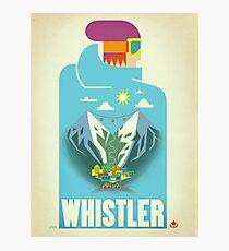 """Blue Bird"" Whistler, BC Travel Poster Photographic Print"
